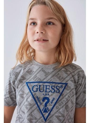 Guess Erkek Çocuk Gri T-Shirt Gri